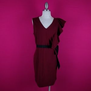 Venus size 8 red burgundy dress career women's